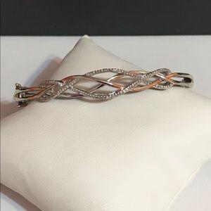 Jewelry - Genuine Diamond .50ctw sterling silver bracelet